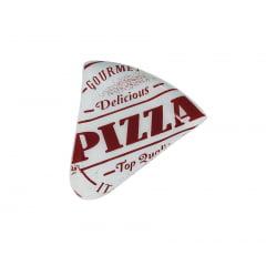 PRATO DE PIZZA VERMELHO TRIÂNGULO