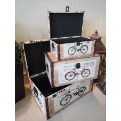 Conjunto De Baús Retrô Bike - 3 Peças