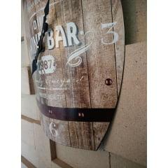 Relógio de Parede Wine Bar – Metal 50×40 cm