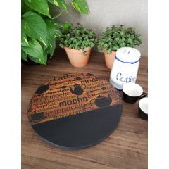 Bandeja Café em madeira 27cm (SOB ENCOMENDA)